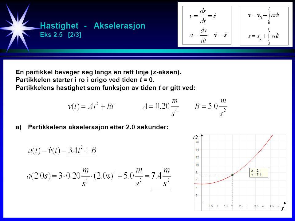 Hastighet - Akselerasjon Eks 2.5 [2/3]